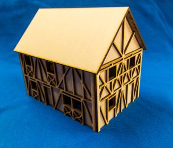 Two Story Medium Half Timber House - 28MMDF302