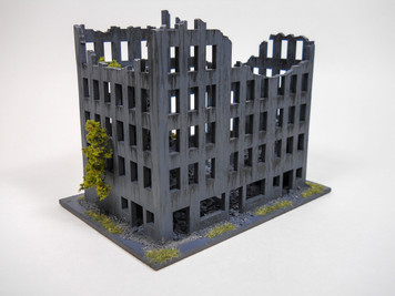 Ruined City Building (Wood) - 15MMDF262