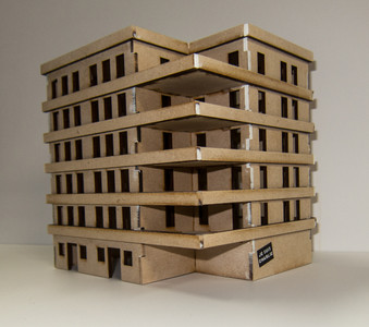 20mm Large Apartment Block (MDF) - 20MMDF158