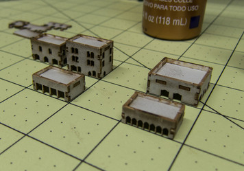 3mm Middle Eastern Style Buildings (17 per kit) - 3MMCSS016