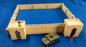 28mm Temple Walls (MDF) - 28MMDF160-2