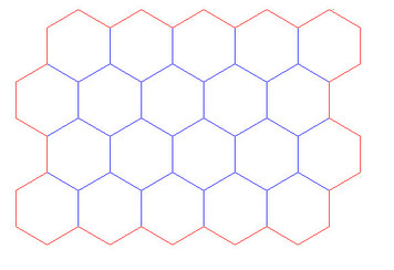 """Hex Bases, """"Block of 20"""" - (2"""")"""