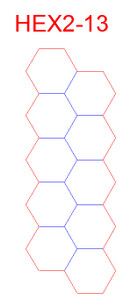 """Hex Bases, Another Array of 10 Hex - (2"""")"""