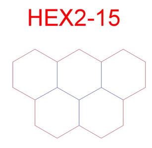 "Hex Bases, Array of Five Hexes - (2"")"