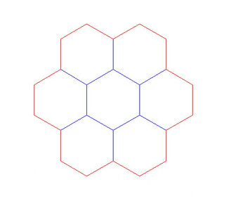 """Hex Bases, """"Circle of 7"""" - (1.25"""")"""