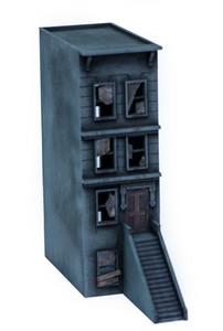 "28mm ""Brownstone"" Row House (MDF) - 28MMDF403"