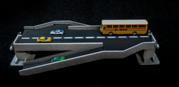 Double Side Ramp Roadway Section, 2 Lane - 285ROAD157-1