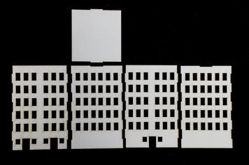 10mm City Building (Matboard) - 10MCSS006