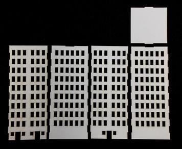 10mm City Building (Matboard) - 10MCSS007