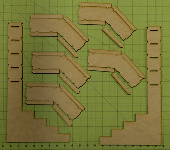 Corner Paint Rack Shelf - SHELF4