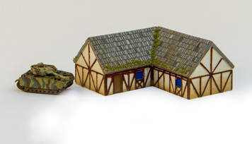 """One story """"L"""" shaped country home (Resin) - 285MEV093"""