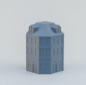 6mm Town Building, Corner - 285MEV112