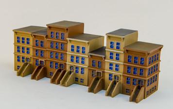 "6mm ""Brownstone"" Starter Kit (7 Buildings) - 285MEV120"