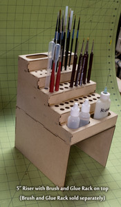 "Brush and Glue Rack 5"" Riser"