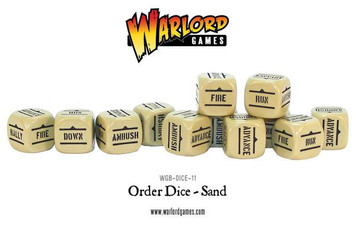 Bolt Action: Orders Dice Packs - Sand