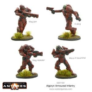 Algoryn Armored Infantry Plastic Box Set