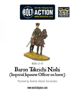 Bolt Action: Baron Nishi (Imperial Japanese officer on horse)