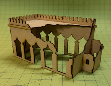 28mm Ruined Temple (MDF) - 28MMDF160-4