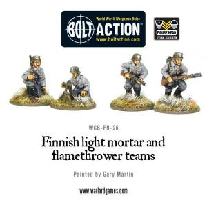 Bolt Action: Finnish Light Mortar & Flame Thrower