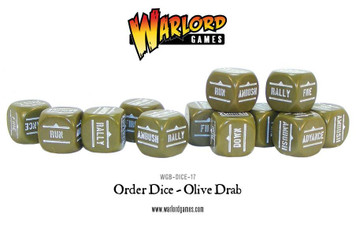 Bolt Action: Orders Dice Packs - Olive Drab