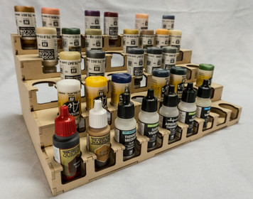 """Paint Rack - 26mm """"Upside Down"""", For Vallejo and Army Painter Style Dropper Bottles"""