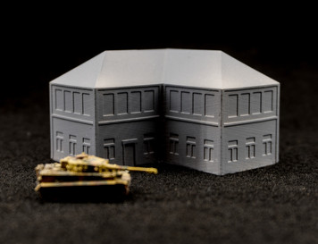 6mm Town Building, Corner - 285MEV115