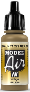 Vallejo Model Air: German Yellow Brown RAL 8000