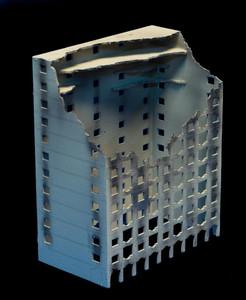 The Mega Hotel, Bombed (Matboard) - 285CSS008