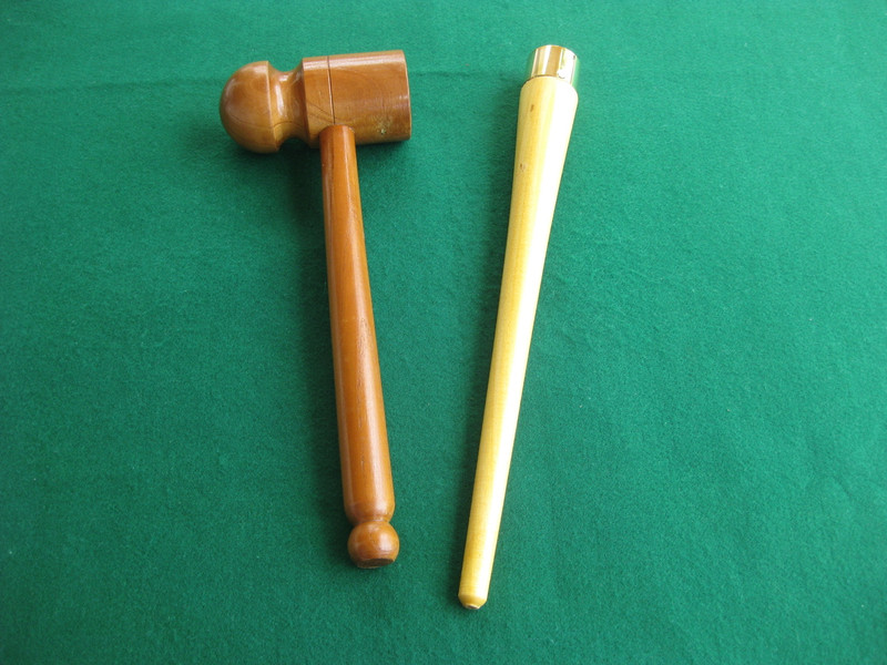 Bat Mallet (Flat & Rounded) and Gripping Cone Set