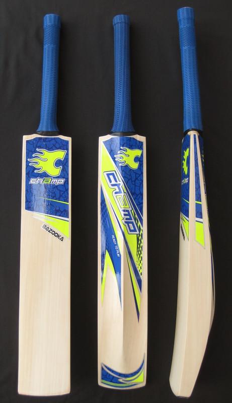 Limited Edition CHAMP T20 BAZOOKA Blue (MASSIVE EDGE) Cricket Bat PLUS FREE EXTRAS
