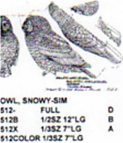 Snowy Owl Perching Carving Pattern