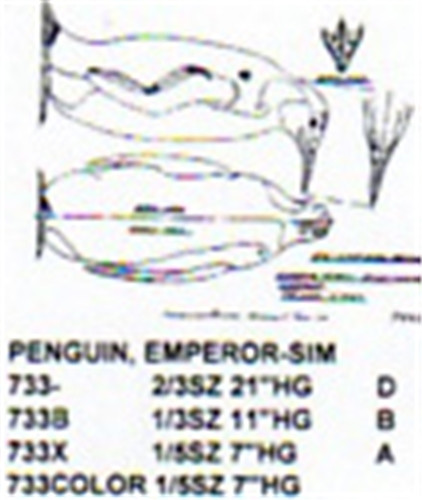 Emperor Penguin Standing 1 3 Size Carving Pattern