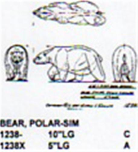 Polar Bear Walking 10 Quot Long Carving Pattern