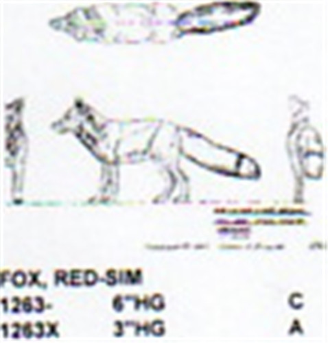 Red fox walking quot high carving pattern
