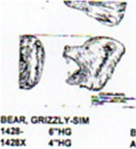 Grizzly Bear Head Only Mouth Open 6 Quot Long Carving Pattern