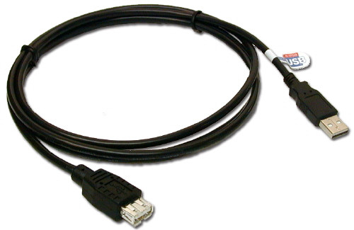 "USB Extension Cable, Male to Female ""A"" type connectors. Supports USB 2.0 480mbps, 3-15 feet long"