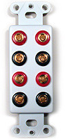 Four pair Speaker banana Jack wall plate insert Calrad 28-123