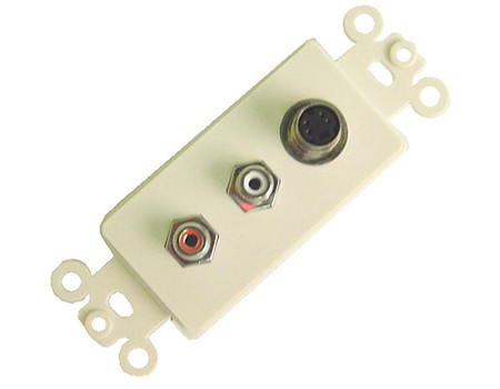 S-Video and Dual RCA Wall plate  Calrad 28-150