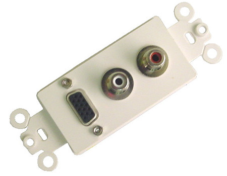 VGA and Dual RCA jack wall plate Calrad 28-160