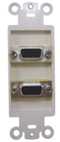 Dual VGA Feed-thru Wall Plate, back