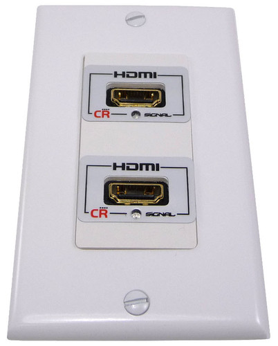Dual HDMI wall plate, low profile