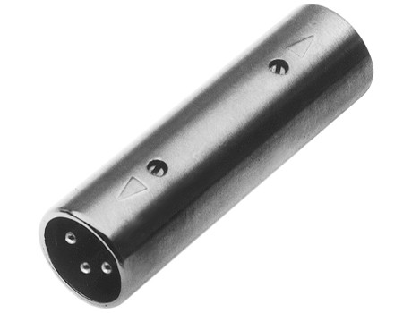 XLR male to male shielded coupler