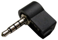 3.5mm male mini plug, Right Angle, 4 conductor