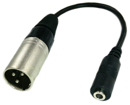 XLR male to 3.5mm stereo female adapter