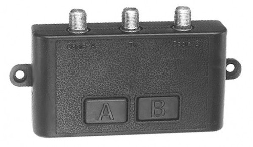 Coax/AB Switcher, 75 ohm, with F connections