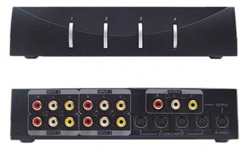 4x1 S-Video, Composite Video and Stereo audio Switcher