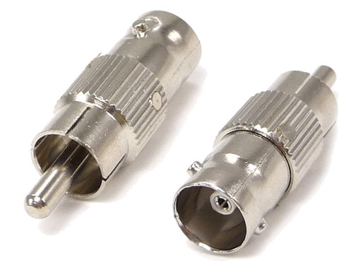 BNC Female to RCA Male Adapter, 75 Ohm