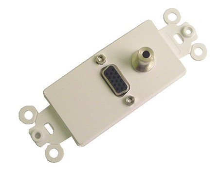 VGA and 3.5mm Stereo jack Feed-thru Wall Plate Calrad 28-161-3.5