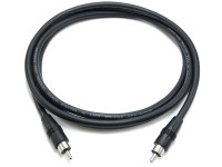 RCA Male to Male RG59 Cable, 100 Feet Long, Molded Strain Relief