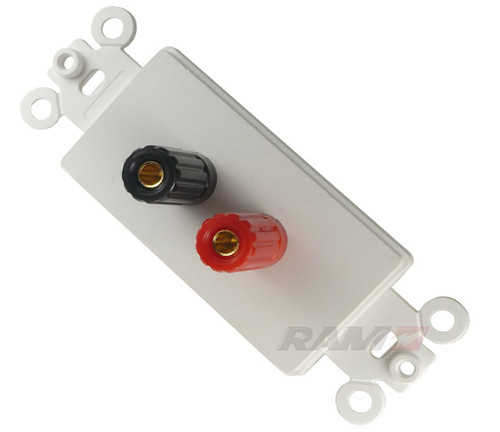Speaker Banana Binding Post Wall plate, Calrad 28-100-P